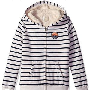Roxy girls big Sherpa Lined zip up hoodie size 10